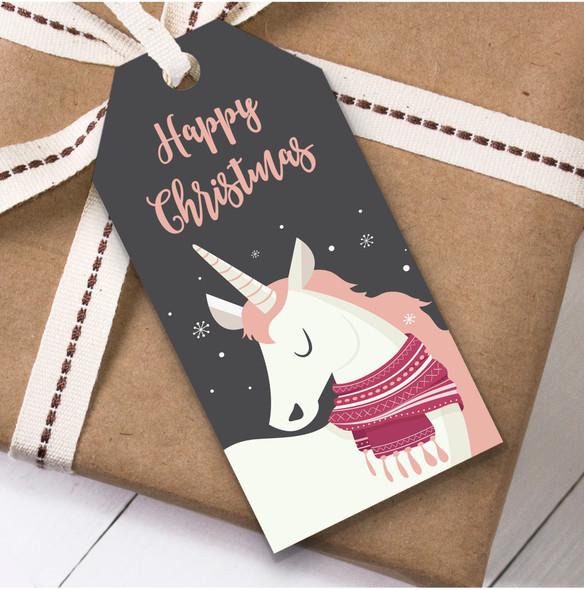 Modern Unicorn Christmas Gift Tags