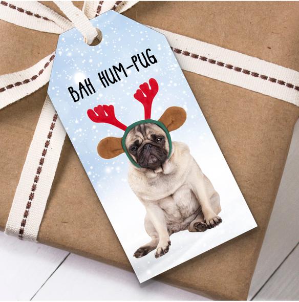 Funny Dog Pug Christmas Gift Tags