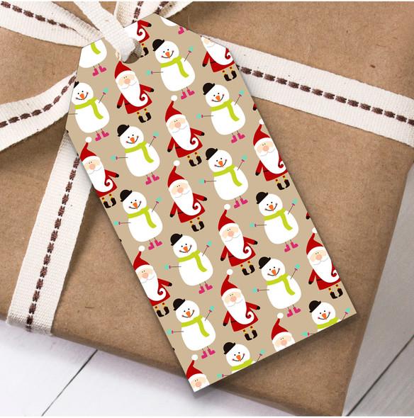 Santa Snowmen Christmas Gift Tags