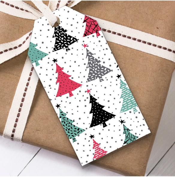Modern Trees Christmas Gift Tags