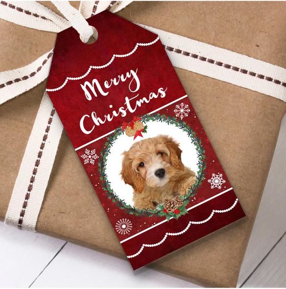 Cavapoo Dog Christmas Gift Tags