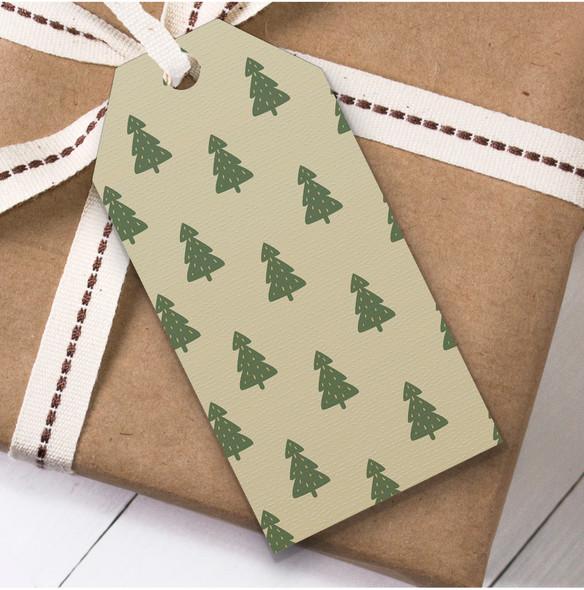 Green Trees Christmas Gift Tags