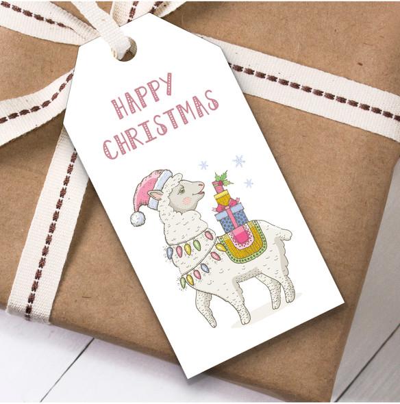 Jolly Llama Christmas Gift Tags