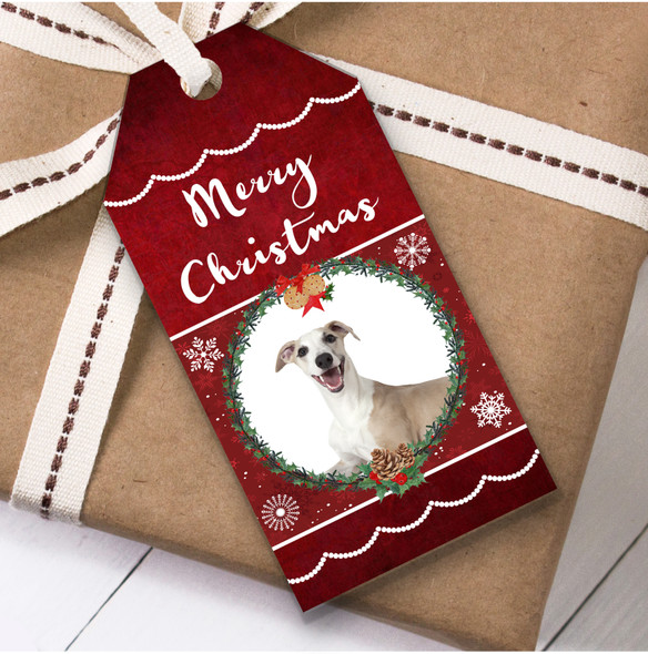 Whippet Dog Christmas Gift Tags