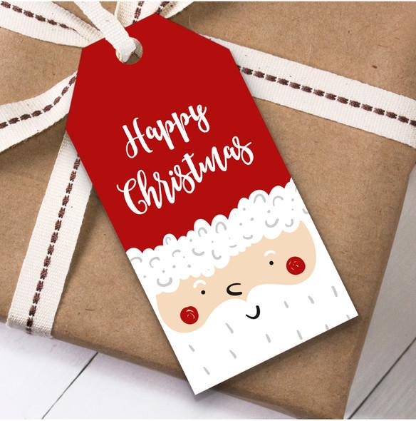 Santa Face Christmas Gift Tags