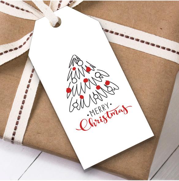 White Tree Christmas Gift Tags