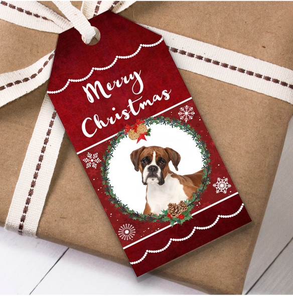 Boxer Dog Christmas Gift Tags