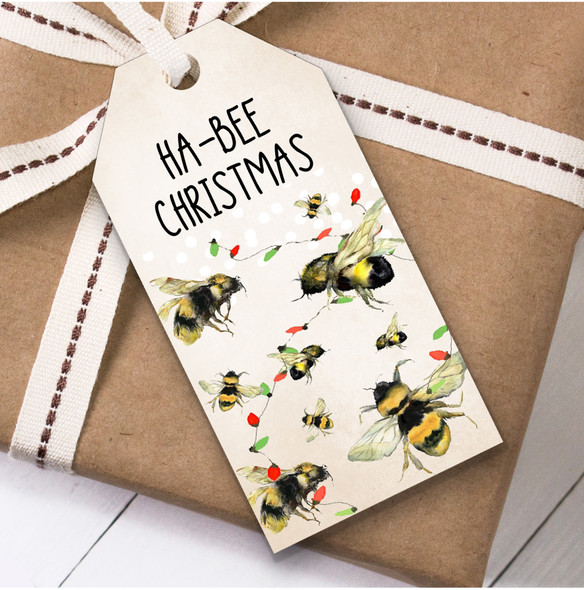 Funny Bee Christmas Gift Tags