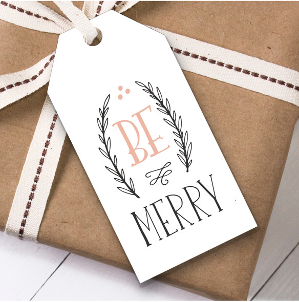 Be Merry Christmas Gift Tags