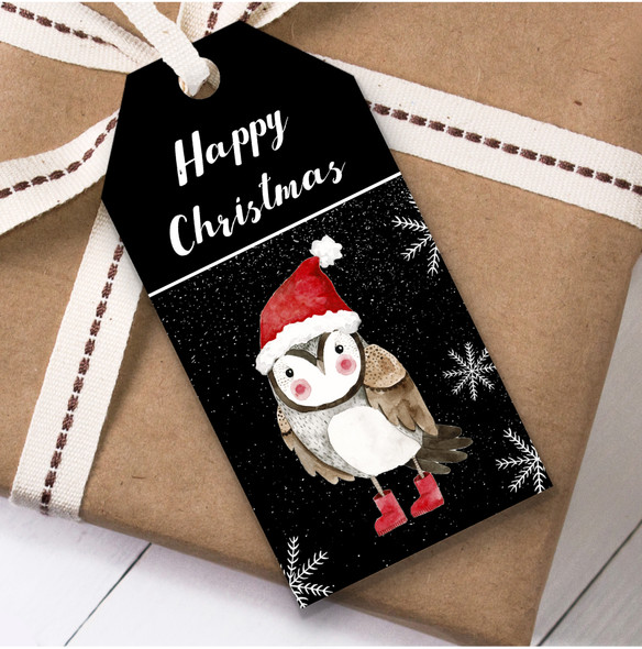 Owl Cute Christmas Gift Tags
