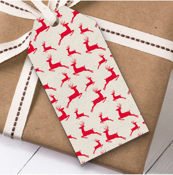 Red Deer Christmas Gift Tags