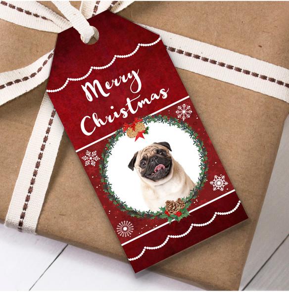 Pug Dog Christmas Gift Tags
