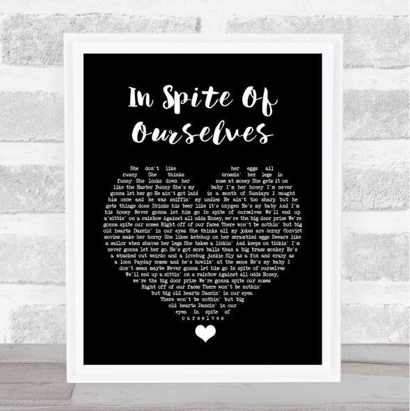 John Prine ft Iris DeMent In Spite Of Ourselves Black Heart Song Lyric Print