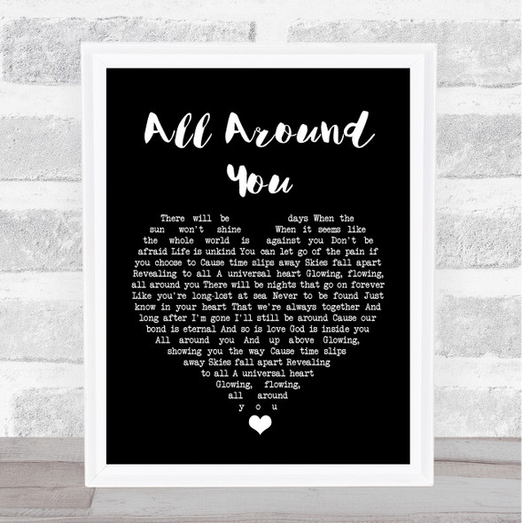 Sturgill Simpson All Around You Black Heart Song Lyric Print