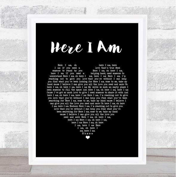 Dolly Parton & Sia Here I Am Black Heart Song Lyric Print