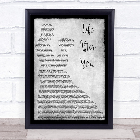 Life After You Grey Song Lyric Man Lady Dancing Quote Print