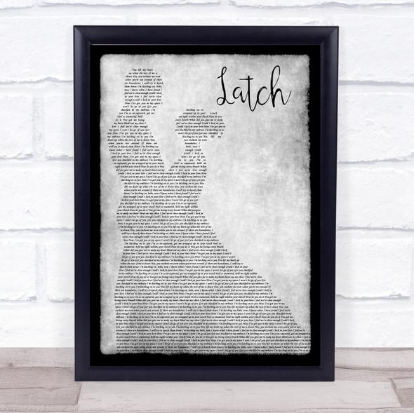 Sam Smith Latch Man Lady Dancing Grey Song Lyric Quote Print