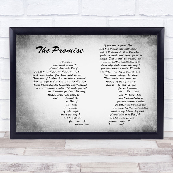 Sturgill Simpson The Promise Man Lady Couple Grey Song Lyric Quote Print