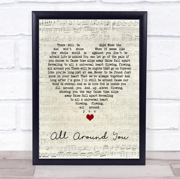 Sturgill Simpson All Around You Script Heart Song Lyric Print