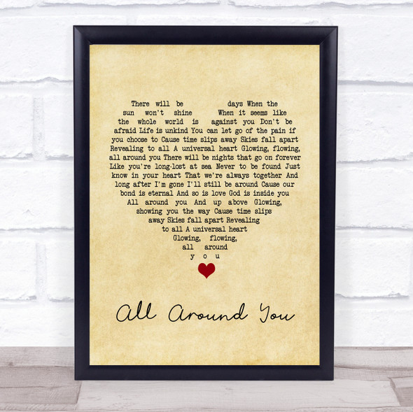 Sturgill Simpson All Around You Vintage Heart Song Lyric Print