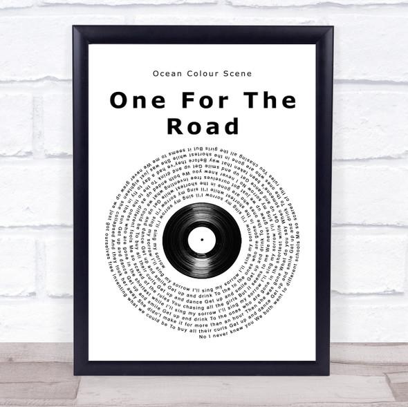Ocean Colour Scene One For The Road Vinyl Record Song Lyric Print