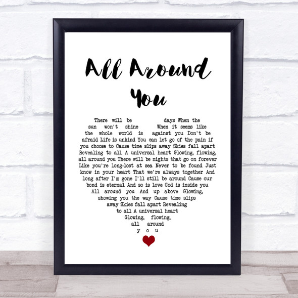 Sturgill Simpson All Around You White Heart Song Lyric Print