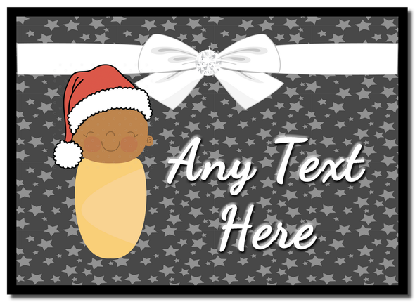Xmas Brown Baby Christmas Personalised Placemat