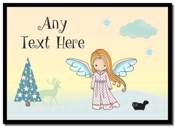 Angel Ginger Hair Christmas Personalised Placemat