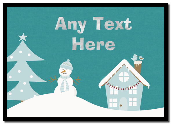 Snowman Winter Scene Christmas Personalised Placemat