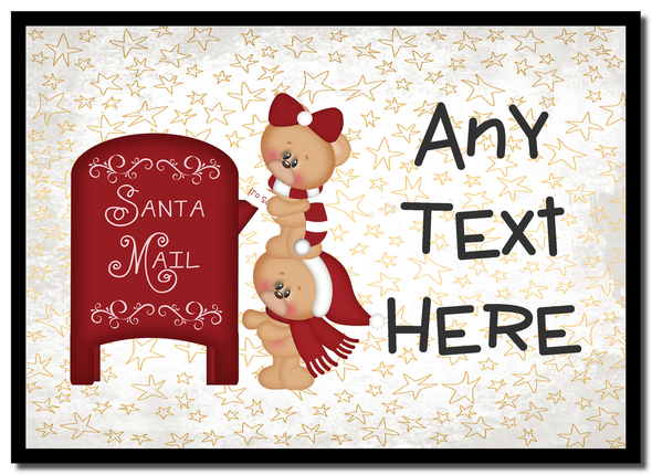 Teddies Mailing Christmas Personalised Placemat