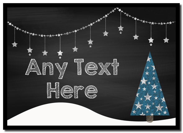 Chalk Xmas Tree Christmas Personalised Mousemat