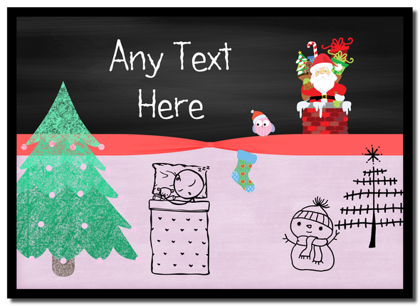 Christmas Eve Scene Christmas Personalised Mousemat