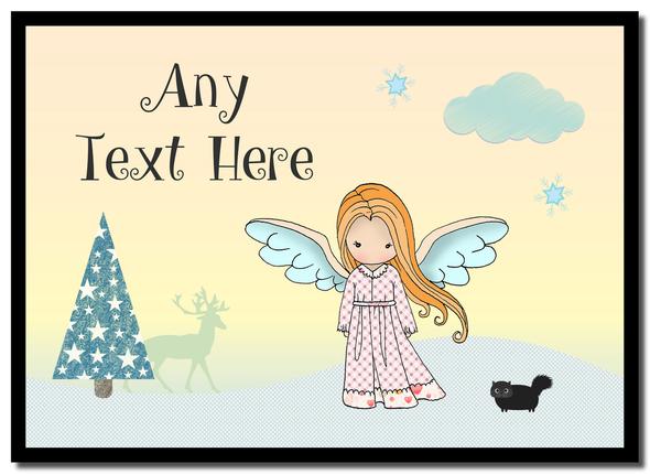 Angel Ginger Hair Christmas Personalised Mousemat