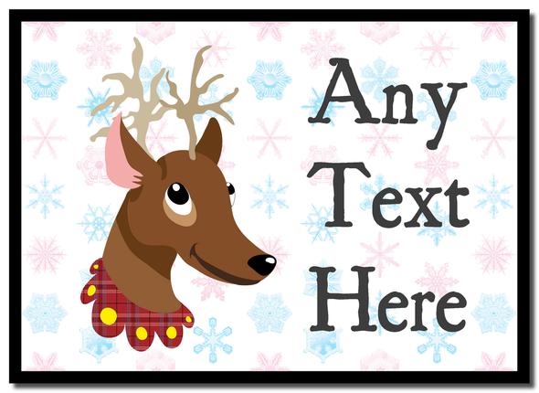 Reindeer Snowflakes Christmas Personalised Mousemat