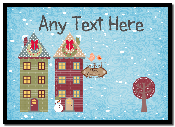 Christmas Town Houses Christmas Personalised Mousemat