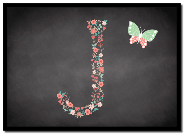 Chalk Letter Initial J  Personalised Mousemat