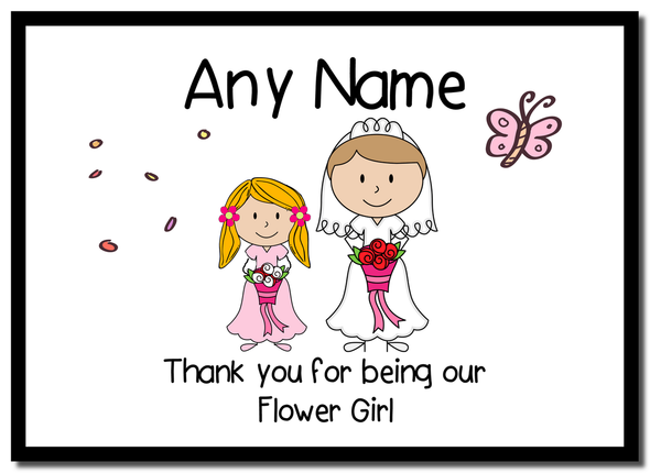 Thank You Flower Girl  Personalised Mousemat