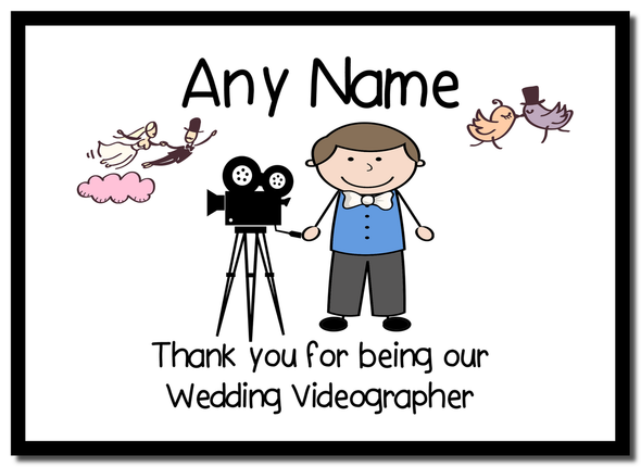 Thank You For Being Our Wedding Videographer Male  Personalised Mousemat