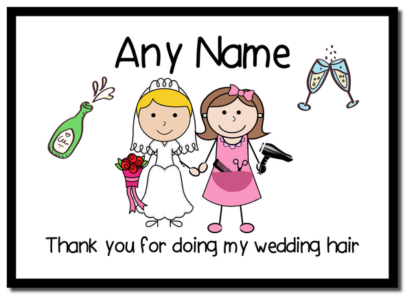 Thank You For Doing My Wedding Hair  Personalised Mousemat