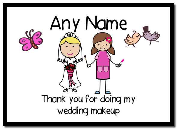 Thank You For Doing My Wedding Makeup  Personalised Mousemat