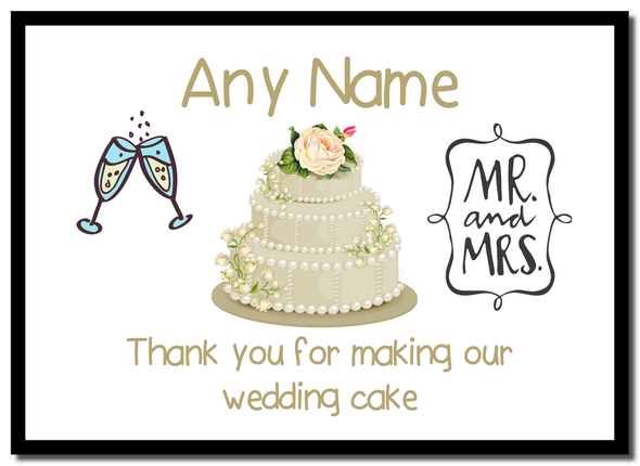 Thank You For Making Our Wedding Cake Ivory  Personalised Mousemat