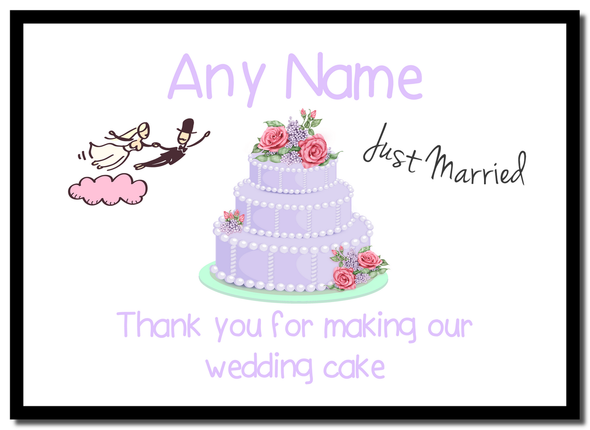 Thank You For Making Our Wedding Cake Lilac  Personalised Mousemat