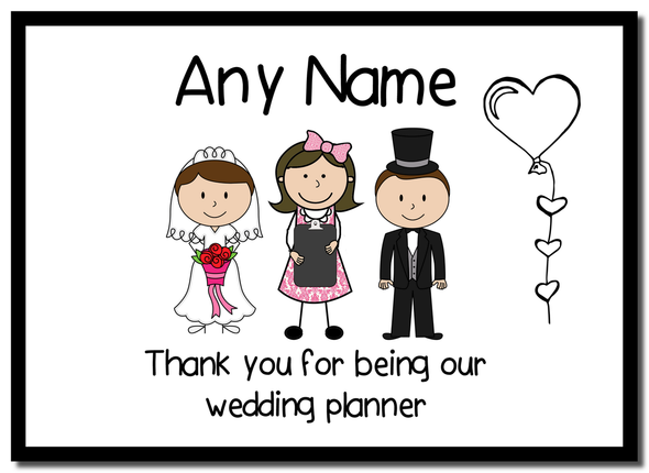 Thank You Wedding Planner  Personalised Mousemat
