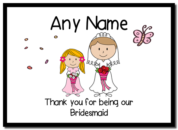 Thank You Bridesmaid  Personalised Mousemat