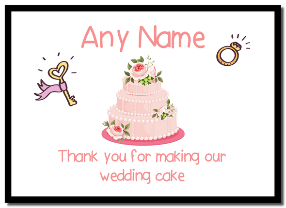 Thank You For Making Our Wedding Cake Pink  Personalised Mousemat