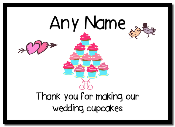 Thank You For Making Our Wedding Cupcakes  Personalised Mousemat