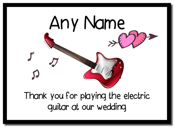Thank You For Playing The Electric Guitar At Our Wedding  Personalised Mousemat