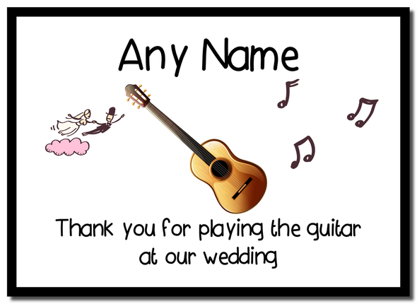 Thank You For Playing The Guitar At Our Wedding  Personalised Mousemat