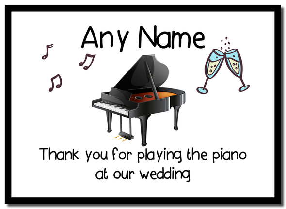 Thank You For Playing The Piano At Our Wedding  Personalised Mousemat