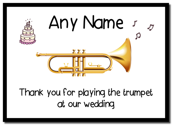 Thank You For Playing The Trumpet At Our Wedding  Personalised Mousemat